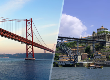 Portogallo: Lisbona e Porto in aereo