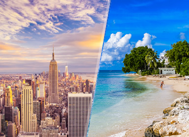 Stati Uniti e Barbados (Piccole Antille): New York e Barbados
