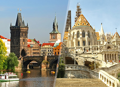 Europa Centrale: Praga e Budapest in aereo