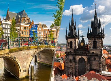 Nord-ovest e Centro Europa: Praga ed Amsterdam in aereo
