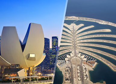 Emirati ed Isole dell'Oceano Indiano: Dubai e Singapore