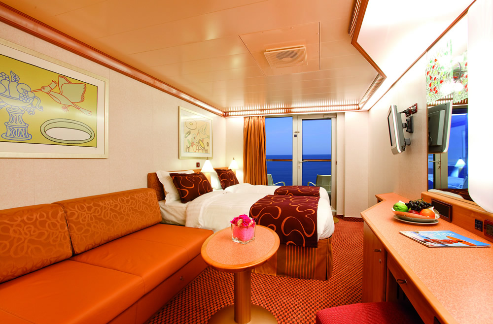 Categorie e cabine della nave costa pacifica costa for Design della cabina e planimetrie