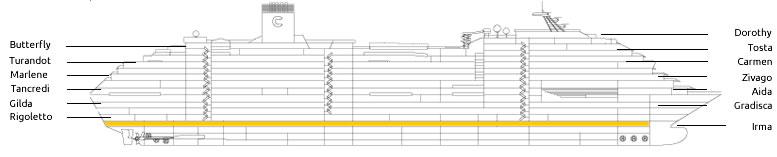 Ponte rigoletto della nave costa fascinosa costa crociere for Piani economici della cabina di ceppo
