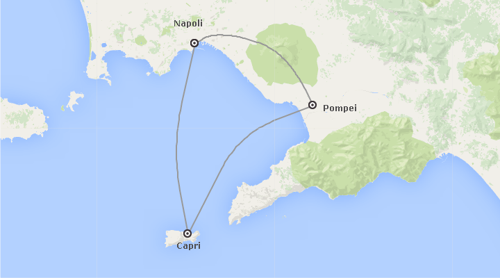 Italia: Napoli, Capri e Pompei