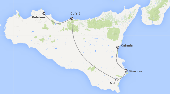 Italia: Da Catania a Palermo