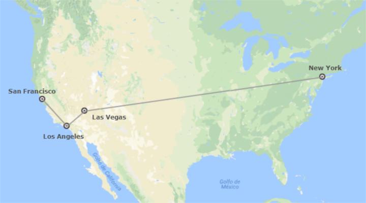 New York, Las Vegas, Los Angeles e San Francisco A Fondo A Modo Tuo