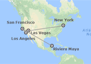 Stati Uniti e Messico: New York, Las Vegas, Los Angeles, San Francisco e Riviera Maya