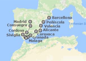 Spagna: Barcellona, Levante e Andalusia con Madrid