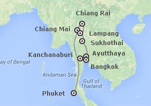 Thailandia: Dal Fiume Kwai al Triangolo d´ Oro e Phuket