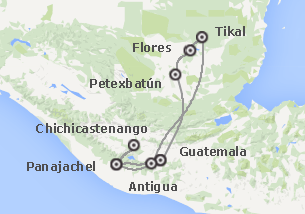 Guatemala: Guatemala con Petén e Aguateca
