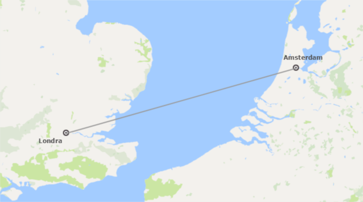 Londra e Amsterdam Essenziale A Modo Tuo in aereo