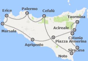 Sicilia: Sicilia da Catania con Costa Orientale