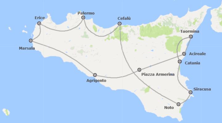 Italia: Sicilia da Catania con Costa Orientale