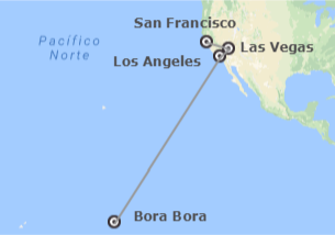 Stati Uniti e Polinesia: San Francisco, Las Vegas, Los Angeles e Bora Bora