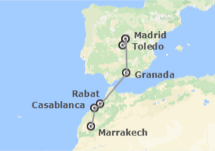 Spagna e Morocco: Madrid, Granada e Marocco