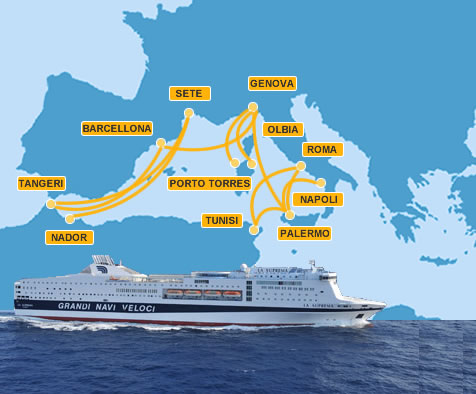 Traghetti grandi navi veloci for Usmc cabine di grandi dimensioni