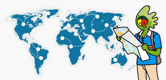 Mappa dei percorsi