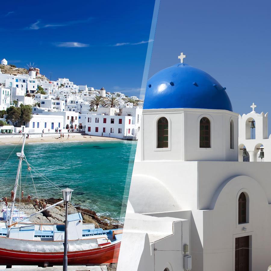 Grecia: Mykonos e Santorini in aereo, a modo tuo con soggiorno mare ...
