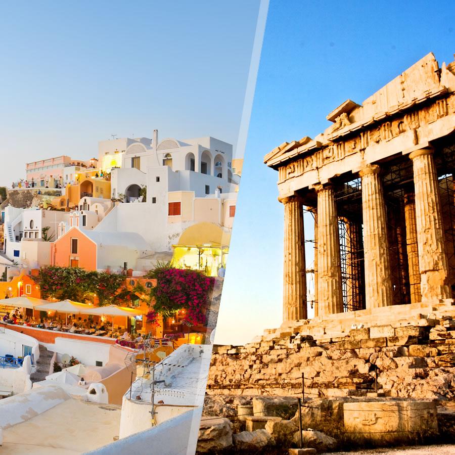 Grecia: Atene e Santorini in aereo, a modo tuo con soggiorno mare ...