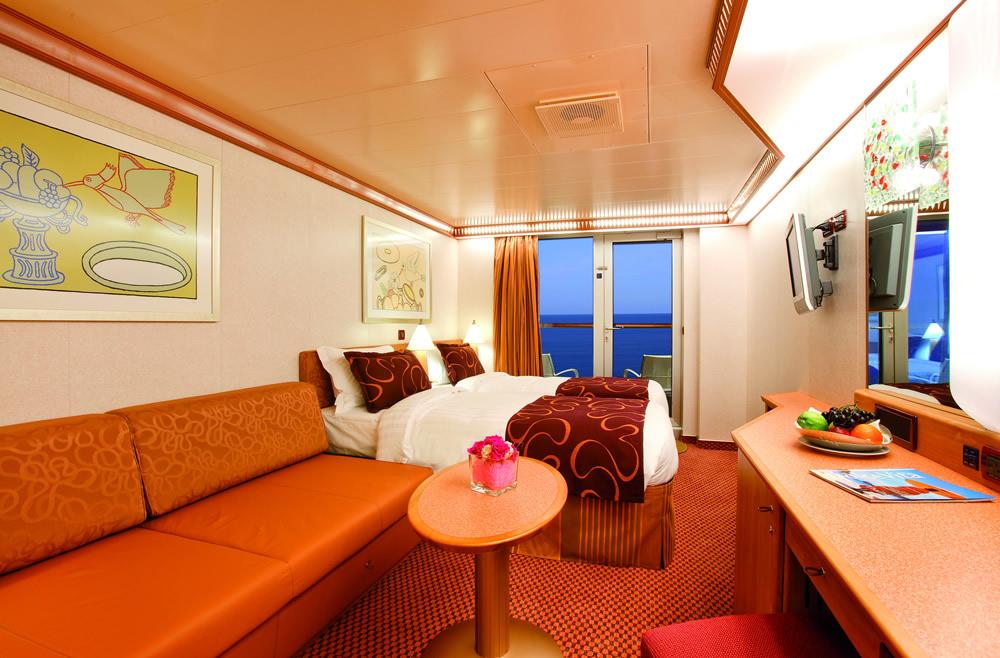 Categorie e cabine della nave costa pacifica costa for Costa deliziosa ponti