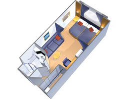 Categorie e cabine della nave sovereign pullmantur for Layout della cabina di log