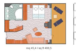 Categorie e cabine della nave costa diadema costa for Planimetrie della master suite