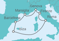 Spagna Ibiza Cartina Geografica.Crociera Spagna Italia Francia Da 339 Nave Msc Splendida Msc Crociere Logitravel